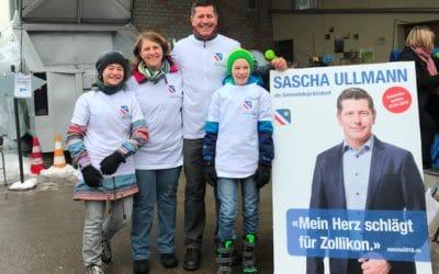 3. März 2018: Sascha Ullmann sorgt für ein sauberes Zollikon
